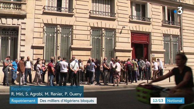 Des milliers d'Algériens toujours bloqués en France