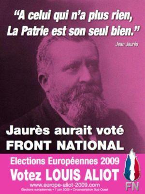 Affiche du Front national pour les élections européennes de 2009. (DR)