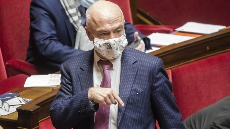 Le député Les Républicains Marc Le Fur, le 19 janvier 2021, à l'Assemblée nationale. (VINCENT ISORE / MAXPPP)