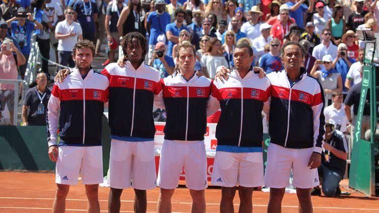 Tsonga, Gasquet, Simon, Monfils lors de leur dernière sélection commune en 2016 (GILLES MOREL / CROWDSPARK)