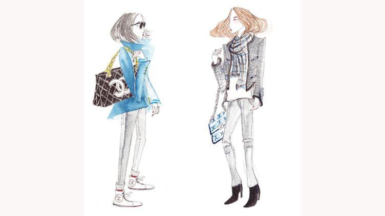 Leo Greenfield croque la fashion week à Paris en 2013  (Leo Greenfield)