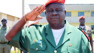 Antonio Indjai, l'ancien chef d'état-major de l'armée de Guinée-Bissau, le 20 mai 2014 dans la capitale Bissau. (STR / AFP)