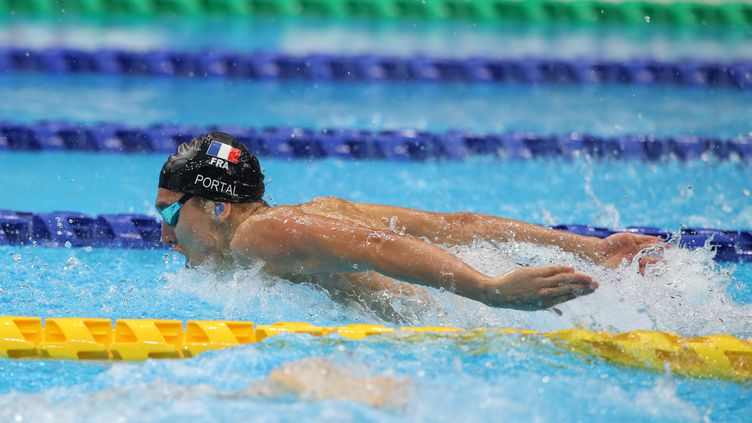 Alex Portal s'est qualifié lundi 30 août pour la finale du200m 4 nages. (G. Picout / CPSF)