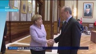 Angela Merkel a rencontré Recep Tayyip Erdogan. (FRANCE 3)