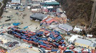 Les dégâtsprovoqués par l'ouragan à Saint-Martin, mercredi 6 septembre, sur la partie néerlandaise de l'île. (REUTERS)