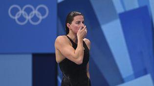 Charlotte Bonnet a été éliminée en demi-finale du 200 m des Jeux olympiques de Tokyo, le 27 juillet 2021. (KEMPINAIRE STEPHANE / KMSP via AFP)