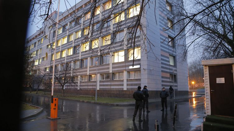 """Le siège du """"Centre fédéral de culture physique et de sport"""" de Moscou, où est domicilié le laboratoire antidopage russe    (MAXIM SHIPENKOV / EPA)"""