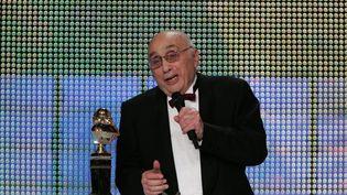 Marcel Bluwal, le 14 mai 2007 lors de la cérémonie des Molières, à Paris. (PIERRE VERDY / AFP)