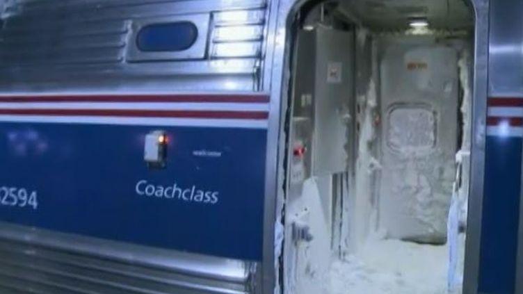 Un train de la ligne Amtrak qui relie les villes de New York à Washington DC montrait le 21 janvier 2014 des images des pôles (REUTERS)