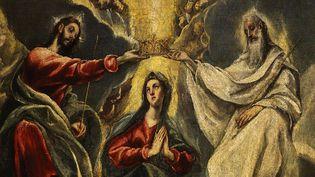 Le Greco (Domenikos Theotokopoulos), Le couronnement de la Vierge (détail, 1591)  (Photo Gianni dagli Orti / Art Archive / The Picture Desk / AFP - Museo de Santa Cruz, Toledo)