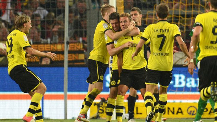 Le joyau japonais du Borussia Dortmund Shinji Kagawa (PATRIK STOLLARZ / AFP)
