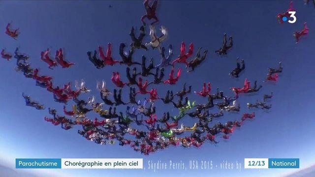 Parachutisme : des passionnés réalisent des chorégraphies en plein ciel