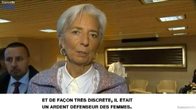 Christine Lagarde, illustration blog Ladies and Gentlemen. (FRANCETV INFO)