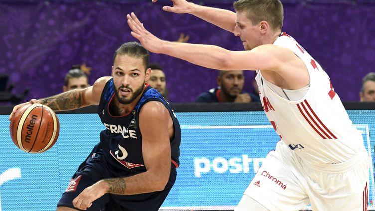 Evan Fournier, l'ailier des Bleus lors de l'EuroBasket (JUSSI NUKARI / LEHTIKUVA)
