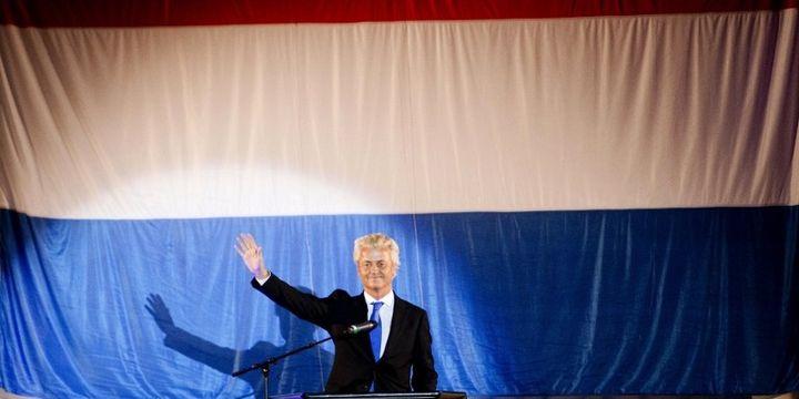 Geert Wilders en campagne (ROBIN UTRECHT / ANP / AFP)