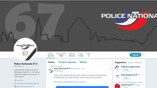Le compte Twitter de la police nationale du Bas-Rhin, qui a relayé plusieurs messages lors de la traque du suspect de l'attentat à Strasbourg. (TWITTER / POLICENAT67)