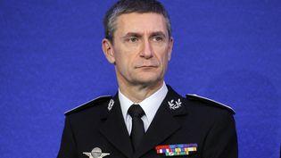 Le directeur général de la police nationale, Frédéric Péchenard, lors d'une conférence de presse pour présenter les résultats de la politique de sécurité, le 21 janvier 2011, à Paris. (PATRICK KOVARIK /AFP)