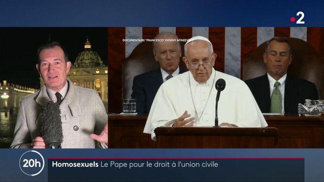 Pape François : le souverain pontife favorable à une union civile pour les couples homosexuels