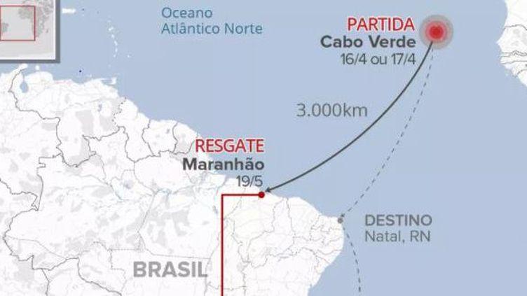 Migrants retrouvés à la dérive à 110 km de Sao Luis, dans le nord-est du Brésil. (Policia Fédéral do Maranhao)