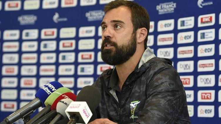 Romain Barnier, l'entraîneur du cercle des nageurs de Marseille (STEPHANE KEMPINAIRE / STEPHANE KEMPINAIRE)