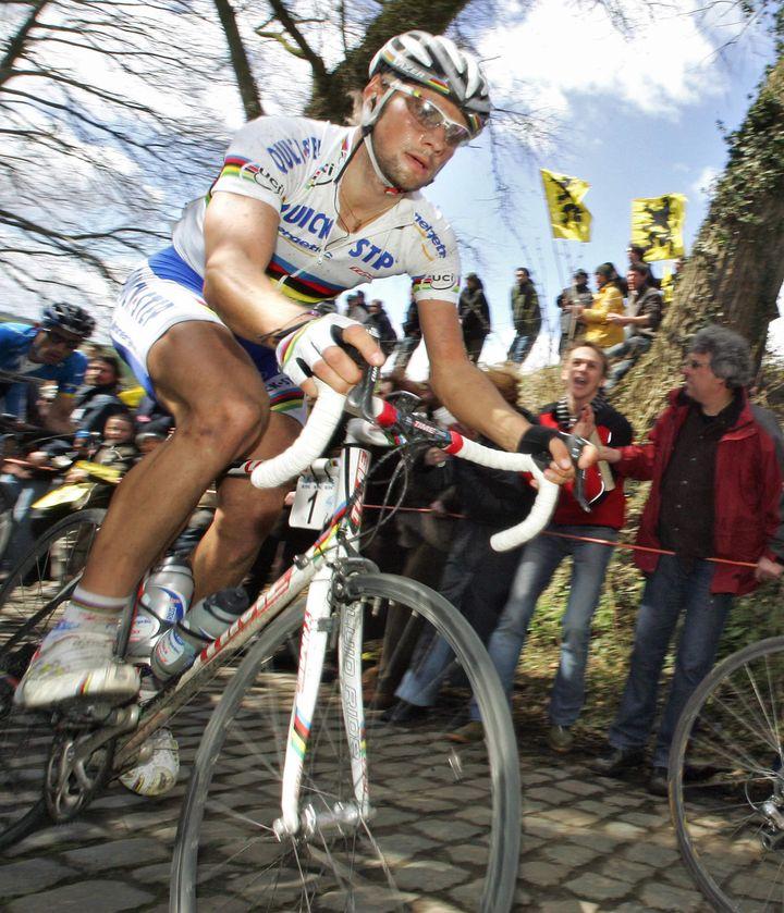 Tom Boonen sur les pavés des Flandres