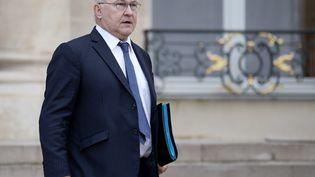 Le ministre des Finances, Michel Sapin, à l'Elysée, le 1er juin 2016. (STEPHANE DE SAKUTIN / AFP)