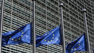 Des drapeaux européens, à Bruxelles (Belgique), le 4 juin 2017. (ARIS OIKONOMOU / SOOC / AFP)