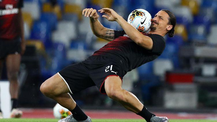 Zlatan Ibrahimovic, attaquant de l'AC Milan (MATTEO CIAMBELLI / NURPHOTO)