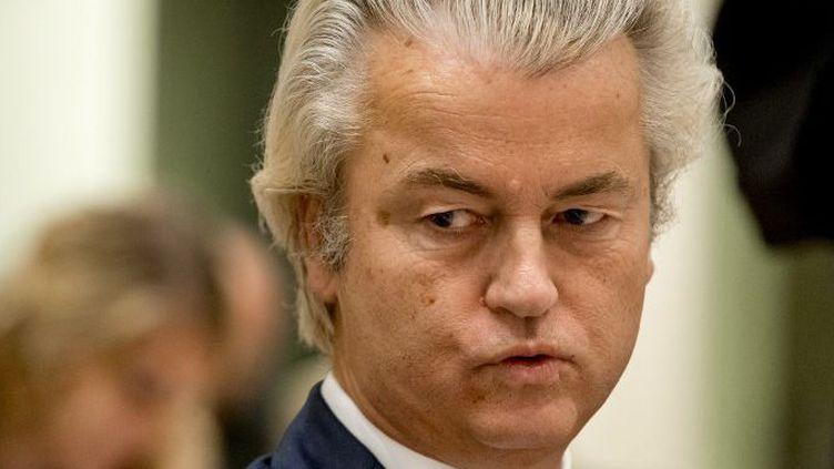 Geert Wilders du Parti pour la liberté (PVV) lors d'une audience préalable à son procès, à Schiphol, Badhoevedorp, aux Pays-Bas, le 23 Septembre 2016. (REMKO DE WAAL / ANP MAG / ANP)