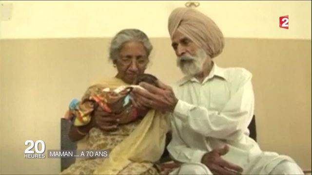 Inde : une femme de 70 ans donne naissance à son premier enfant