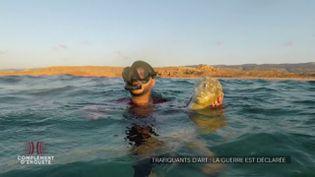 Cette tête de statue antique découverte en Libye gisait au fond de l'eau depuis deux mille ans (COMPLÉMENT D'ENQUÊTE/FRANCE 2)