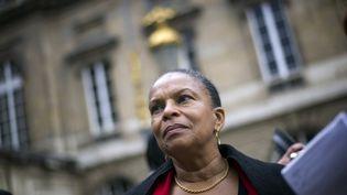 La garde des Sceaux, Christiane Taubira, à Paris, le 20 mai 2012. (FRED DUFOUR / AFP)