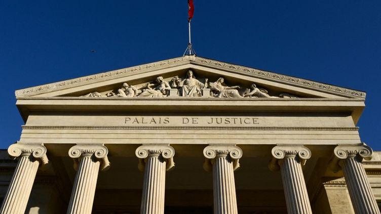 Le palais de justice de Marseille (Bouches-du-Rhône), le 15 mars 2021. (NICOLAS TUCAT / AFP)
