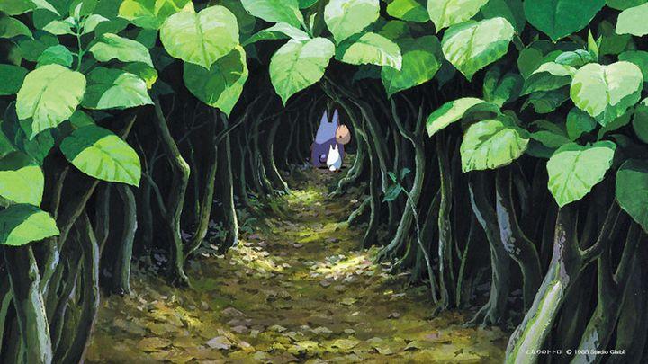Un fond pour visio-conférence proposé gracieusement sur le site de Studio Ghibli en avril 2020. (STUDIO GHIBLI)