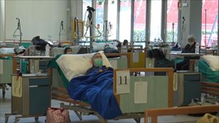 Dans cet hôpital civil plus de 150 personnes sont déjà décédés du coronavirus. (GILLES GALLINARO / RADIO FRANCE)