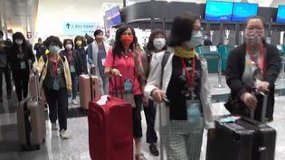 Touristes taïwanais. (Capture d'écran franceinfo)