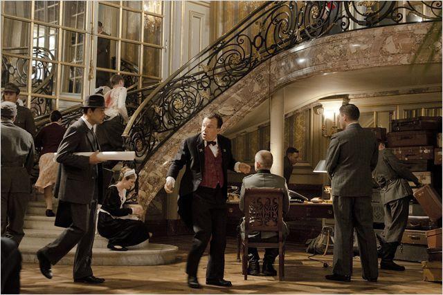 """Le hall del'hôtel Meurice dans la nuit du 24 au 25 août 1944 reconstitué dans """"Diplomatie"""" deVolker Schlöndorff  (Gaumont Distribution)"""
