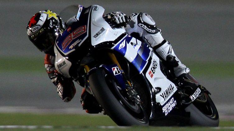 L'Espagnol Jorge Lorenzo au guidon de sa Yamaha