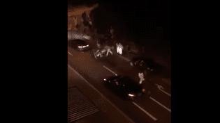 Une vidéo montrant des hooligans suisses détournées sur les réseaux sociaux (Capture d'écran Facebook)