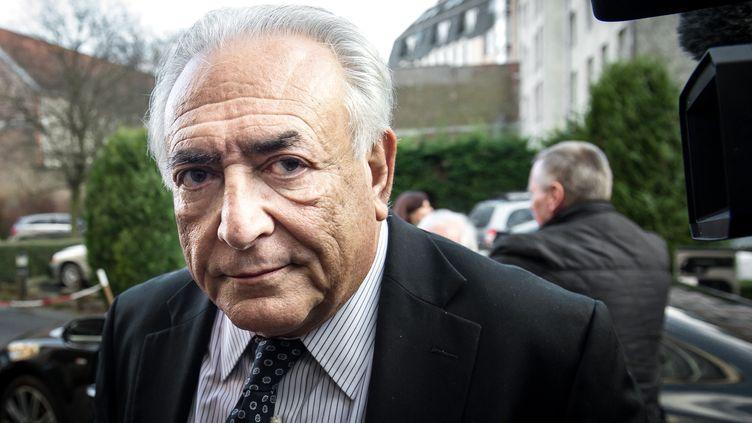L'ancien président du FMI Dominique Strauss-Kahn à Lille (Nord), le 17 février 2015. (PHILIPPE HUGUEN / AFP)