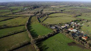 Vue aerienne de la zone du futur aéroport de Notre-Dame-des-Landes près de Nantes (Loire-Atlantique), le 20 décembre 2013. (  MAXPPP)