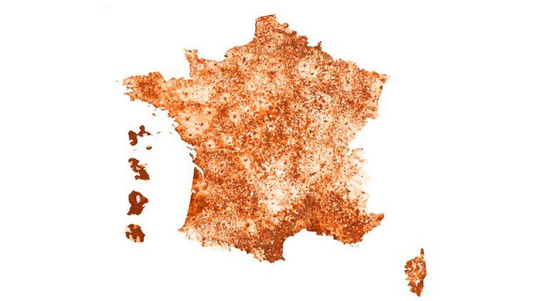 La carte de France du taux de chômage en 2016. (FRANCEINFO / FLOURISH)