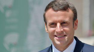 Le président français Emmanuel Macron au sommet du G7 à Taormina, en Sicile, le 27 mai 2017. (TIZIANA FABI / AFP)