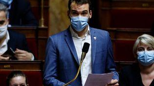 Ugo Bernalicis, le 2 février 2021, à Paris. (THOMAS SAMSON / AFP)