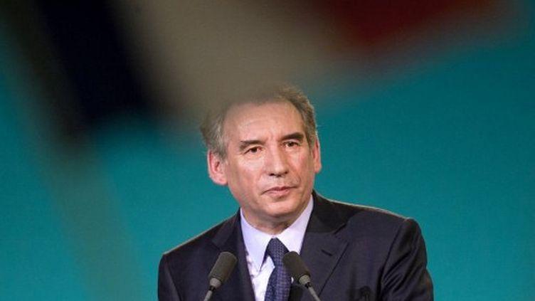 François Bayrou tient meeting à Perpignan, le 29 mars 2012. (AFP - Bertrand Langlois)