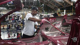 L'usine Ford de Flat Rock, dans le Michigan, est la grande gagnante de ce changement de stratégie. Quelque 700 nouveaux emplois seront créés, pour développer des véhicules autonomes et électriques. (BILL PUGLIANO / GETTY IMAGES NORTH AMERICA / AFP)