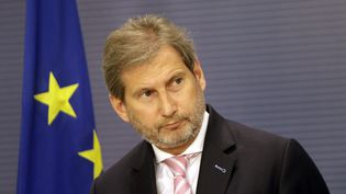 Johaness Hahn, Commissaire européenau budget et à l'administration.  (VALDA KALNINA / AFI)