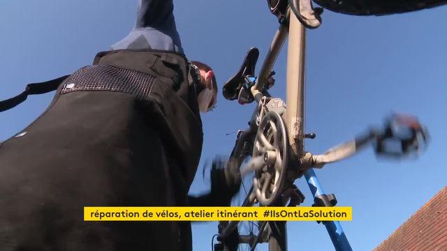 Dans le Calvados, un ancien ingénieur a monté son atelier itinérant de réparation de vélos