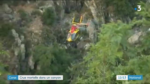 Corse : crue mortelle dans un canyon