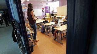Une salle de classe à Montpellier (Hérault), le 4 septembre 2017. (MAXPPP)